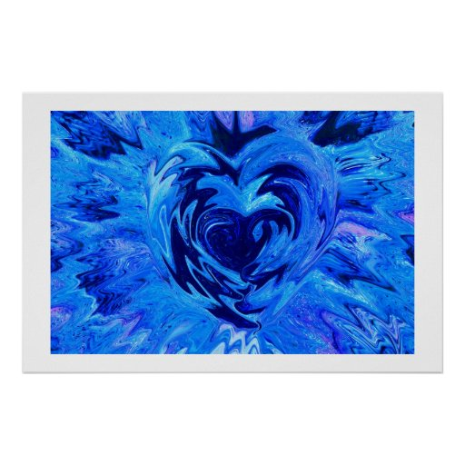 Beautiful Blue Heart Poster