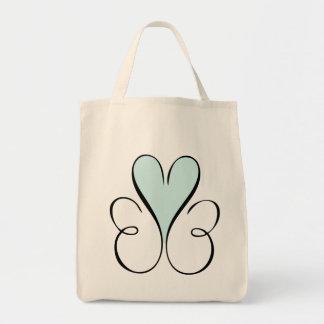 Beautiful Blue heart Tote Bag