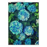 Beautiful Blue Hydrangea Blank Greeting Card