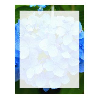 Beautiful Blue Hydrangea Flower Letterhead