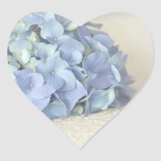Beautiful Blue Hydrangea On Vintage Lace Stickers