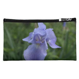 Beautiful Blue Iris Flowers Sueded Wristlet