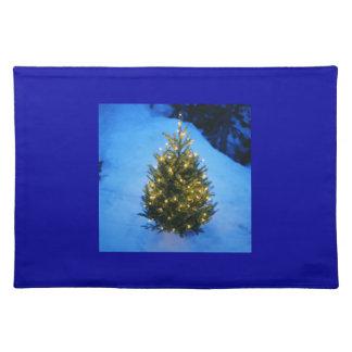 Beautiful blue julbordstablett placemat