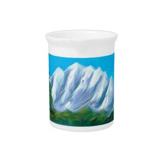 Beautiful Blue Lake Dreamy Mirage Drink Pitchers