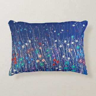 Beautiful blue meadow flowers cushion