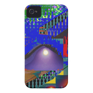 Beautiful Blue Moonshine Abstract iPhone 4 Case-Mate Cases
