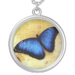 Beautiful Blue Morpho Butterfly Necklace