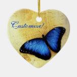 Beautiful Blue Morpho Butterfly Ornament