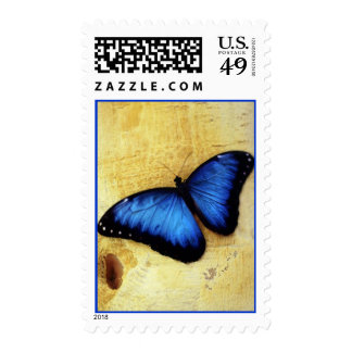 Beautiful Blue Morpho Butterfly Stamps