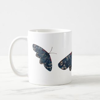 Beautiful Blue Moth Coffee Mug