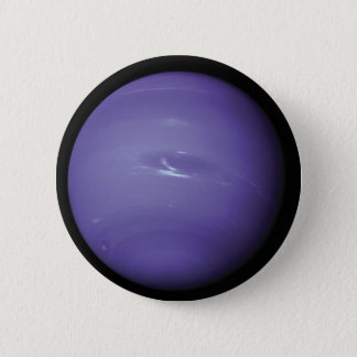 Beautiful blue Neptune, as seen from space, NASA Button