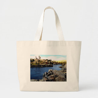 Beautiful Blue Nile  River in Upper Egypt photo Canvas Bag