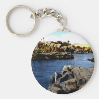 Beautiful Blue Nile  River in Upper Egypt photo Keychain