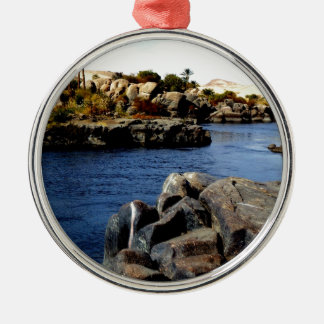 Beautiful Blue Nile  River in Upper Egypt photo Metal Ornament