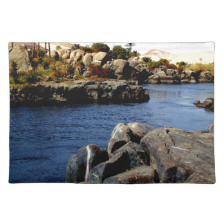 Beautiful Blue Nile  River in Upper Egypt photo Place Mat