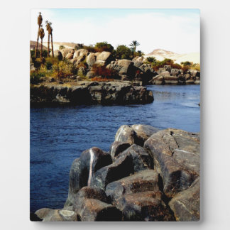 Beautiful Blue Nile  River in Upper Egypt photo Display Plaques