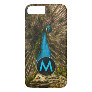 Beautiful Blue Peacock with Open Tail Feathers iPhone 7 Plus Case