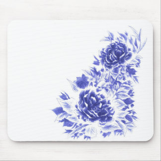 Beautiful Blue Peony Artistic Mousepad