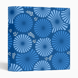 Beautiful, blue retro floral Binder