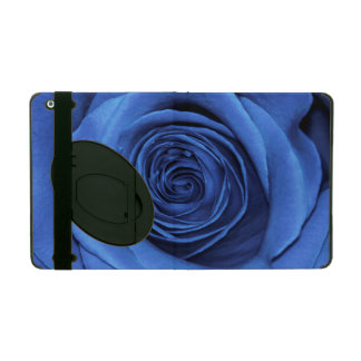 Beautiful Blue Rose Flower Floral Photo iPad Folio Case