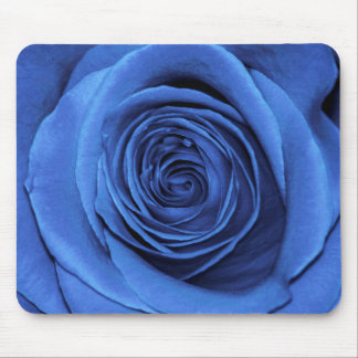 Beautiful Blue Rose Flower Floral Photo Mouse Pad