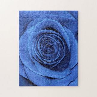 Beautiful Blue Rose Flower Floral Photo Puzzle