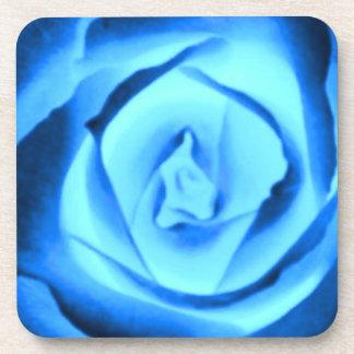 Beautiful Blue Rose Photo Cork Coaster