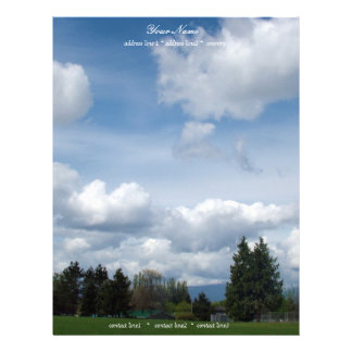 beautiful blue sky and white  clouds letterhead