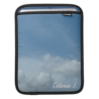 Beautiful blue sky and white clouds sleeve for iPads