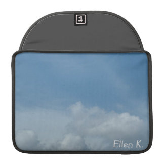 Beautiful blue sky and white clouds sleeve for MacBook pro