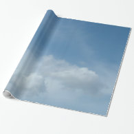beautiful blue sky and white clouds. wrapping paper