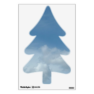 Beautiful blue sky and white cotton clouds room graphics