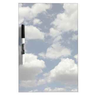Beautiful Blue Sky with Puffy White Clouds Dry-Erase Board