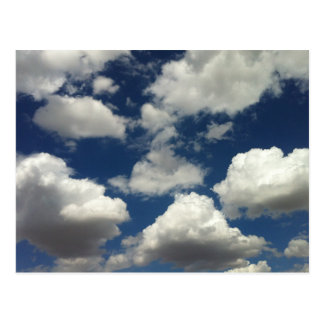 Beautiful Blue Sky with Puffy White Clouds Postcard