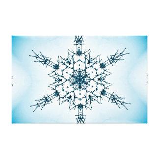 Beautiful Blue Snowflake Fractal Canvas Print