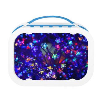 Beautiful Blue Sparkle Flower Lunchbox
