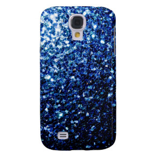 Beautiful Blue sparkles Samsung Galaxy S4 Case