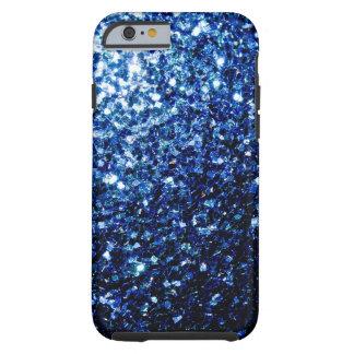 Beautiful Blue sparkles Tough iPhone 6 Case