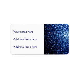 Beautiful Blue sparkles Address Label