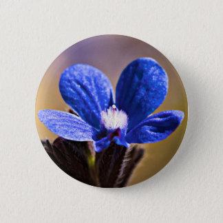 Beautiful Blue Spring Flower Pinback Button