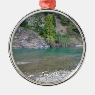 Beautiful Blue Stream in Northern California Metal Ornament