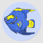 Beautiful Blue Tropical Parrot Fish Stickers
