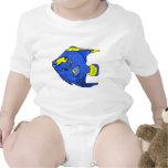 Beautiful Blue Tropical Parrot Fish Tee Shirts
