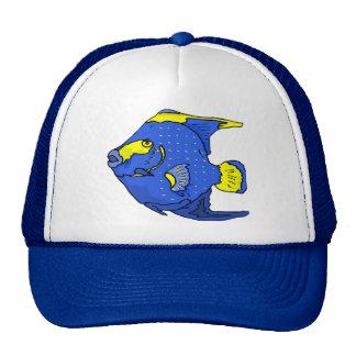 Beautiful Blue Tropical Parrot Fish Trucker Hat