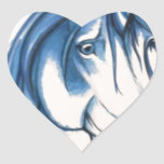 Beautiful Blue unicorn Heart Sticker