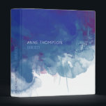 "beautiful blue watercolor 3 ring binder<br><div class=""desc"">An art-inspired item,  featuring a blue watercolor with custom name and school subject</div>"