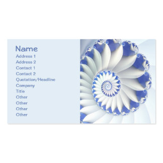 Beautiful Blue & White Sea Shell Abstract Art Double-Sided Standard Business Cards (Pack Of 100)