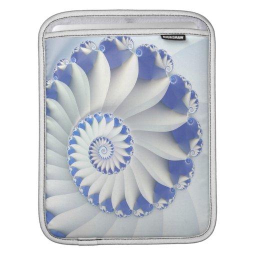Beautiful Blue & White Sea Shell Abstract Art MacBook Sleeves
