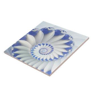 Beautiful Blue White Sea Shell Abstract Art Ceramic Tiles