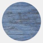 Beautiful Blue Wood Stickers
